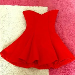 Lovers + Friends coral strapless dress